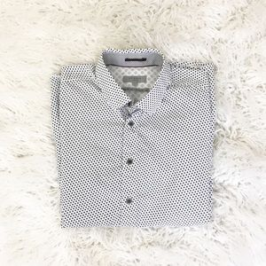Ted Baker short sleeve button down printed shirt 5